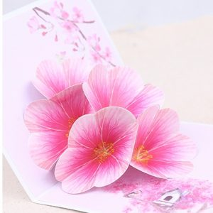 Blossom Greeting Card send to China
